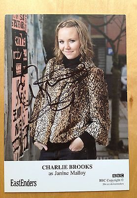 Charlie Brooks  eastenders Signed Cast Card autograph 6x4
