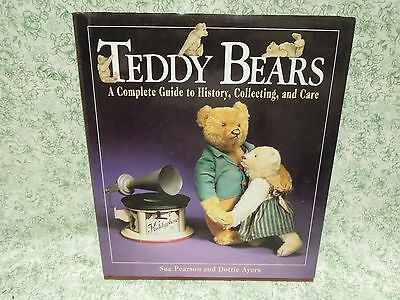 """Teddy Bear book: """"Teddy Bears: Complete Guide to History etc.""""  HC  rm-233"""
