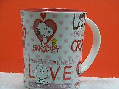 Peanuts Love Drives Me Crazy Lucy Charlie Brown Coffee Cup Mug