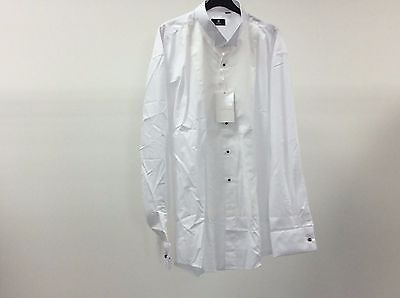 Mens White Wing Marcella Stud Button Formal Dress Shirt Size 17 1/2 - 9A281