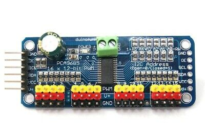 16 canaux 12 bits PWM / Servo Driver - interface I2C PCA9685 ARDUINO COMPATIBLE