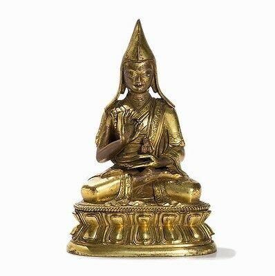Gilt Bronze Figure of Tsongkapa, Tibet, 18th/19th Century