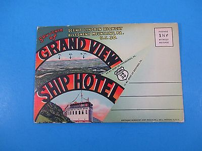 Vintage Souvenir Postcard Folder Lincoln Hwy Pittsburgh To Gettysburg S3043