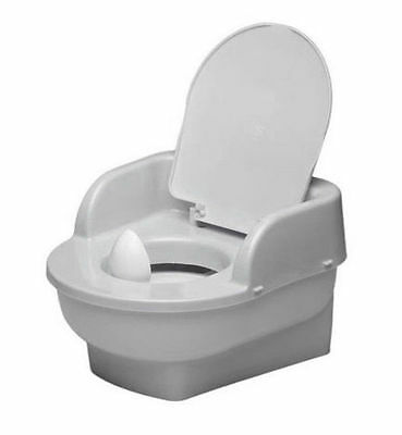Baby Kids Child Plastic Potty Pot Toilet Trainer Training Seat Throne White