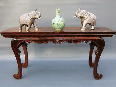 Superb Large Chinese Elm Altar Table / Console