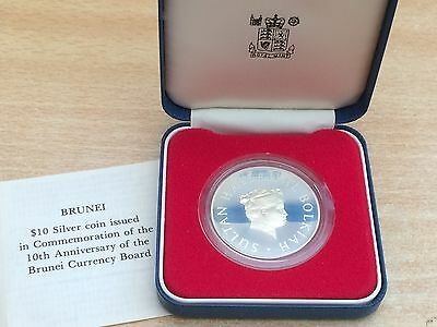 1977 Brunei 0.841oz Silver Proof $10 coin - Limited Edition with certificate