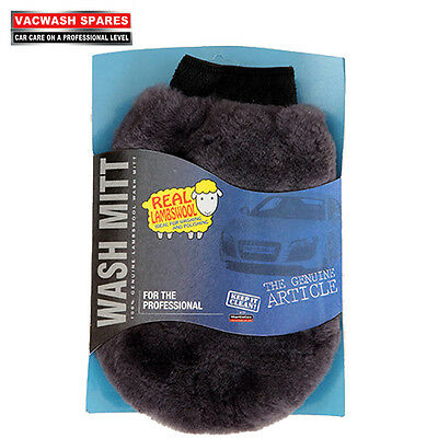 Genuine Soft Lambswool Car Cleaning Wash Mitt / Ultra Thick / Valeting / Detail