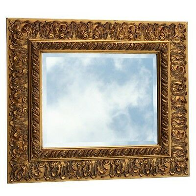 Beautiful Framed Mirror Gold Solid Wood Wall Baroque