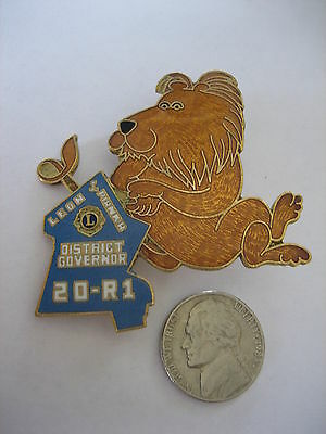 20 R1 District Govenor Lion Pin - Lions Club - 2 1/2  inch