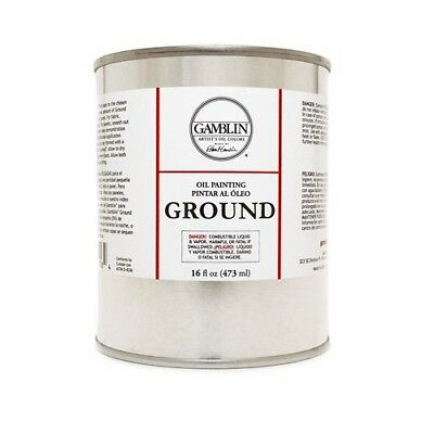 Gamblin Artists Colors Co Gb01116  Oil Painting Ground 16.9Oz/500Ml