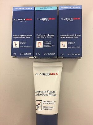 Clarins Men's Samples X4 New