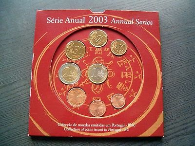 KMS Euro Portugal 2003 - 1 cent - 2 Euro - orig. Folder