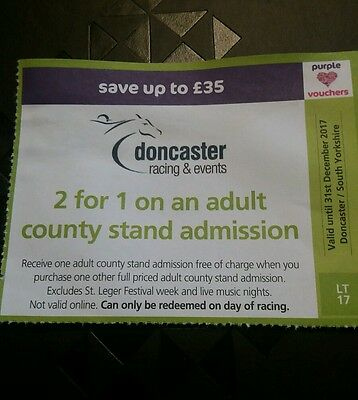 doncaster racecourse county stand 2 for 1 tickets