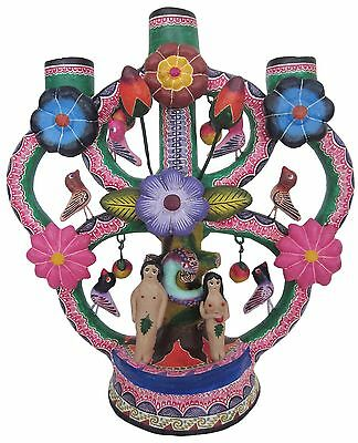 Mexican Day of the Dead Ceramic Candelabra