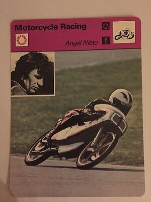 Sportcaster Rencontre Sports Card - Motorcycle Racing - Angel Nieto!