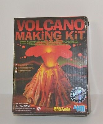 Kidz Labs Volcano Making Kit plastic mould plaster mix and more materials