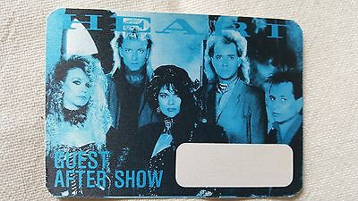 Heart Satin Cloth Guest After Show Pass Still New Unused Made By Otto!!!