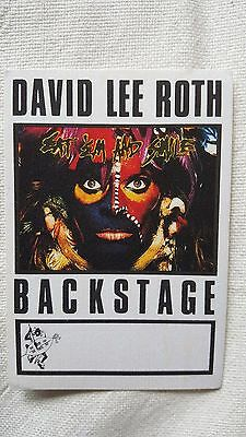 David Lee Roth Satin Backstage Pass Eat'em Still New Unstuck Made By Otto!!!