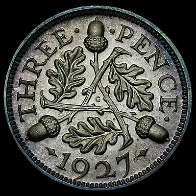 1927 George V Silver Proof Threepence – Scarce
