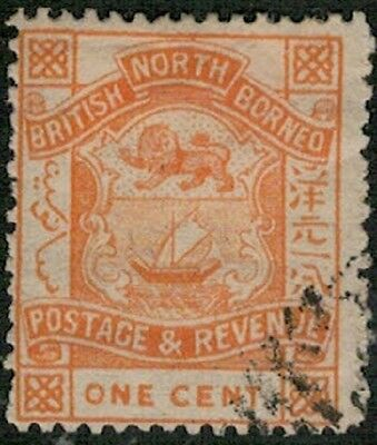 Lot 3651 - North Borneo - 1888 ½c red Arms Used stamp