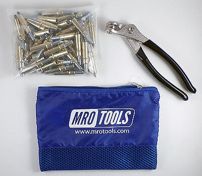 50 3/16 Cleco Sheet Metal Fasteners Plus Cleco Pliers w/ Carry Bag (K1S50-3/16)