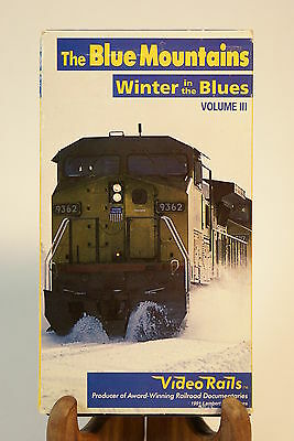 The Blue Mountains Winter in the Blues Vol. III Railroad Train Tour VHS Video