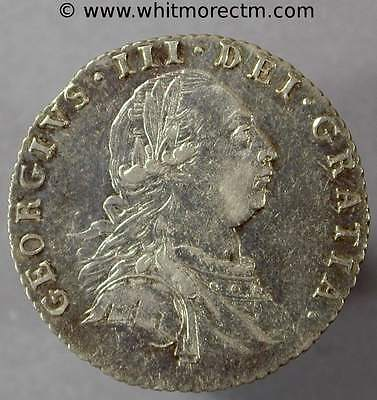 George III Sixpence 6d 1787 with Hearts ExFine - ZZ602