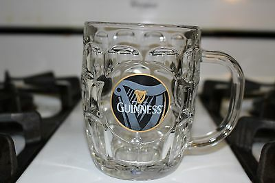 Guinness Dimpled Glass Beer Mug  Stein With Harp Luminarc Glasses EUC