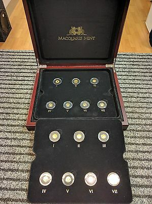 Macquarie Mint smallest gold coins of the world collection in presentation case