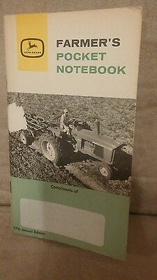 1962 - 1963 JOHN DEERE POCKET NOTEBOOK .97th annual edition.