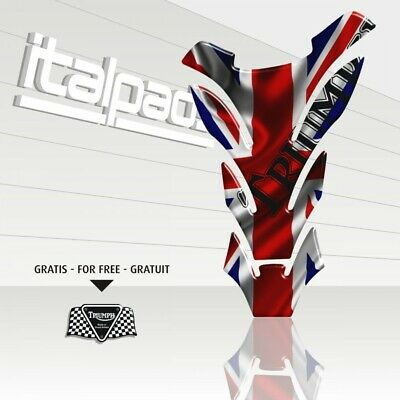 "Paraserbatoio Triumph U.K. flag Union Jack ""DETROIT"" + 1 sticker GRATIS!!"