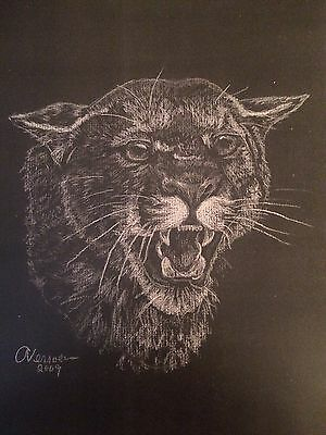 """Limited Edition Print of """"Angry Kitty"""" Cougar"""