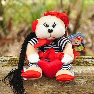 NEW Martine the Valentine's Day Mime Bear - Beanie Kid Collectable