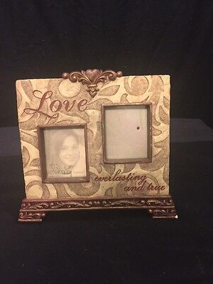 Drake Picture Frame, Dual Pictures, 2.5x3, Love Everlasting And True