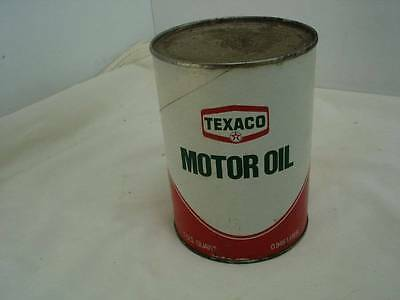 NOS Vintage Texaco Motor Oil 70's Cardboard Can One Quart SAE 10 Original #6
