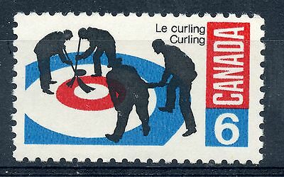 Weeda Canada 490i VF mint NH 1969 Curlers on Rink 6c on scarce DF paper CV $3