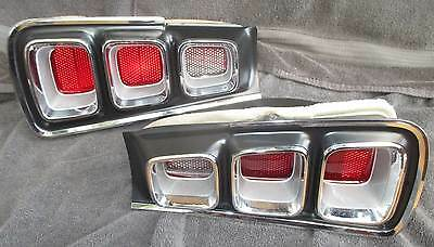 68 CORONET RT TAILLIGHTS - VERY NICE grille TAIL LIGHT LAMPS trunk DODGE mopar