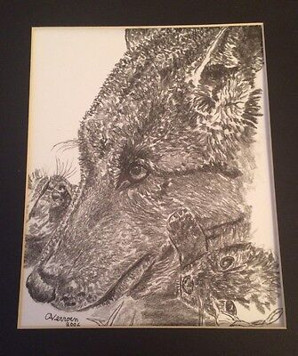 """Limited Edition Print of """"Wolf And Cubs"""""""