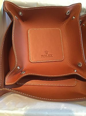 Genuine Rolex Watch Accessories / Light Brown Leather Double Coin Holder