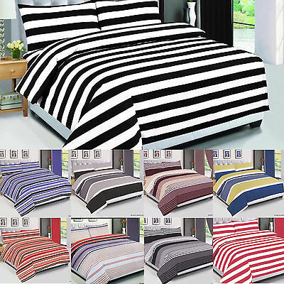 Striped, Checked Duvet Covet Set, Cotton Bedding Set, Quilted Cover All Size 4PC