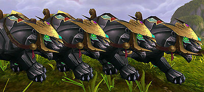 World of Warcraft WoW Mount Jeweled Onyx Panther Mount  All EU Servers