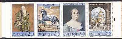 SWEDEN, 1987, 16,80 Kronor 'Paintings at Gripsholms Castle', booklet, MNH