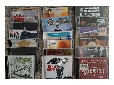 bulk lot of 20 cd's mixed - green day - Spiderbait - The Clash - Whitlams - more