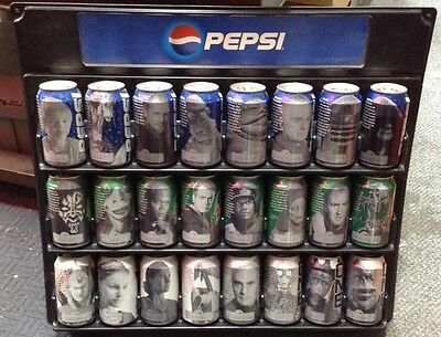 Star Wars Pepsi Cans Collection 24 Count Complete w/Display Holder & Box