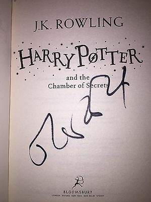 J. K. Rowling Personally Signed Harry Potter And The Chamber Of Secrets Book, 1