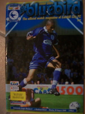 Cardiff City Football Programme 28th August 2000 Southend United