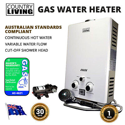 NEW Instant LPG Gas Hot Water Portable Outdoor Camping Shower Heater & Pets Wash