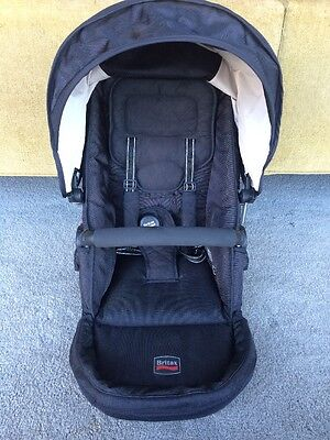 EXCELLENT CONDITION Britax B-Ready Stroller Replacement Top Seat BLACK BOY GIRL