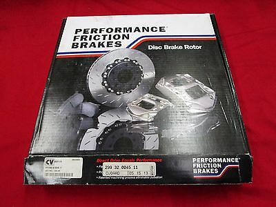 "New Performance Friction Brake Rotor,pfc299.32.0045.11,curved Vein.1-1/4""th,lh"