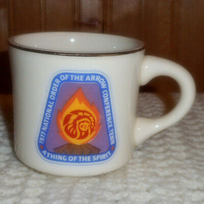 Vtg.  Boy Scout 1977 National Order Of The Arrow Conference Tenn  Coffee Cup